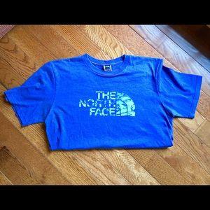 North Face size Medium blue T-shirt